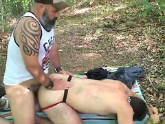 bear fuck of in a forest by a bear (bareback)
