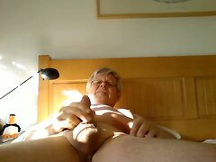 Handsome grandpa cum and ass play