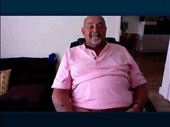 chubby grandpa wanking on cam