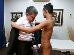 not daddy Bareback Fucks Asian Boy Joshua