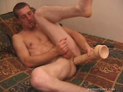 Adam Strokes With a Dildo