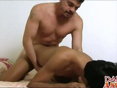 not daddy fucks perfect asian twink Hunter in tiny twink ass