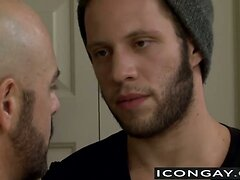 Wolf Hudson loves licking the tight hairy ass of Adam Russo