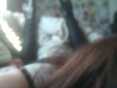 Cross Dressing Sissy Enjoying sucking a BBC