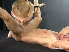 Virgin Jock Ass Fucked Until Uncut Cock Cums - Gay Bondage