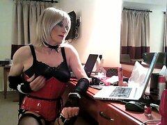 Daniella's new pvc corset