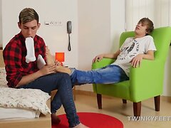 Twinks Chase and Oscar Foot Fetish Fuck