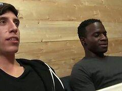 Black gay sucking white dick