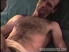 Hairy Guy Claims Straight But Likes Getting Fucked