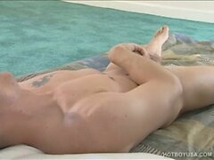 Hung Twink Jereme Austin Jacks Off and Cums