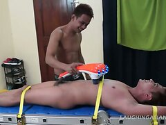 Gay Asian Twink Gilbert Racked and Tickled