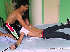 Asian Boy Vahn Tied and Tickled