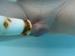 Underwater dildo sucking tool