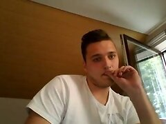 German Cute Boy Fucks His Big Fat Ass With 2 Fingers On Cam