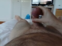 Cumming while watching a porn