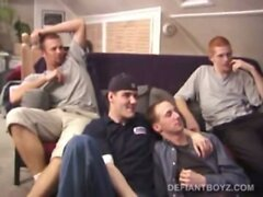 Four Curious Boys Gay Sex Orgy