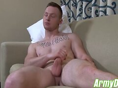 Tyler Seids jerking action showing his fully hard big cock