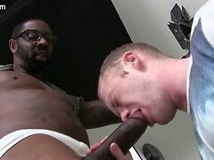 White gay gets mouth filled