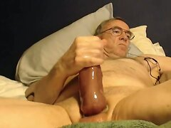 big cock grandpa stroke on cam  scene 3
