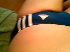 I In Adidas Speedo Blue With White Stripes