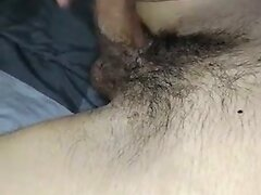 Wanking whilst fingering his asshole