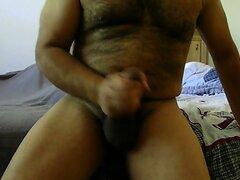 Big Uncut Hairy Cock Stroke