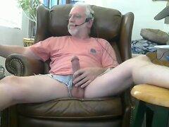 grandpa play and cum on cam  scene 2