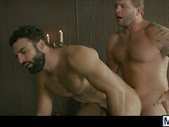 Abraham bounces on Colbys dick before blowing his load