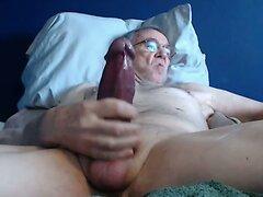 big cock grandpa stroke on cam  scene 4