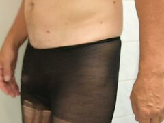 wank and cum in pantyhose