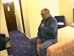 grandpa stroke and cum in hotel room