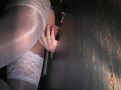 TV swallows 3 loads at a gloryhole booth