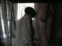 Blowing guy in vacant house and he cums down my throat
