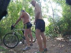 mature guys meet in woods