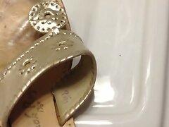 Cumming on Wife's Friend's Sandals