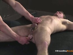 Uncut Foreskin Cock Torture Jock Ass Fucked Clothespin Play  scene 2