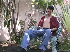 Skinny Latino Gabriel Miera Jerks Off
