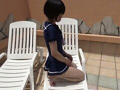 chilling crossdresser in one piece skirt