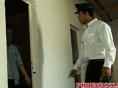 Cute twink Andy gets banged by horny prison guard Tony  scene 2