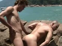 Black and White Papis on Intimate Anal by the Beach  scene 2