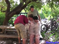 Straight twinks ass drilled at frat hazing