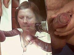 Tribute for 11menne - Spermaschlampe bekommt Saft