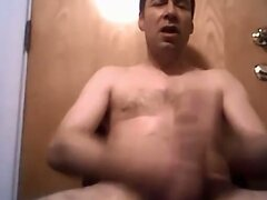 Hot daddy with nice cock shooting