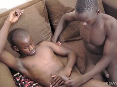 Black Africans George and Ben Barebacking  scene 2