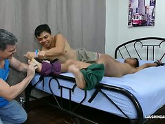 Twink Asian Boy Kenny Tied and Tickled