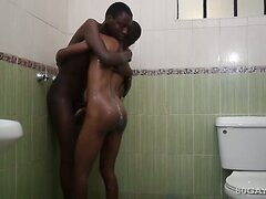 Black Africans Richard and Evans Bareback  scene 2