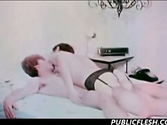 Vintage Gay Cross Dressing Dominating Hardcore  scene 2