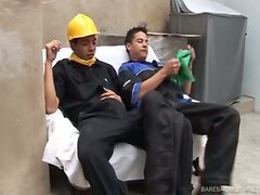 Latino Construction Studs Barebacking  scene 2