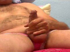 63 Jerking pink panties