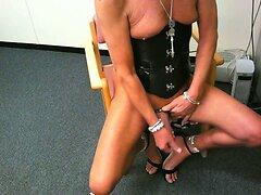 sissy in strappy heels
